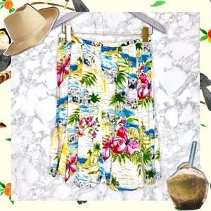 BILA TROPICAL ISLAND PRINT SKIRT